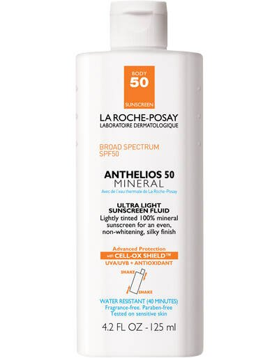 Anthelios Tinted Mineral Sunscreen for Face and Body SPF 50