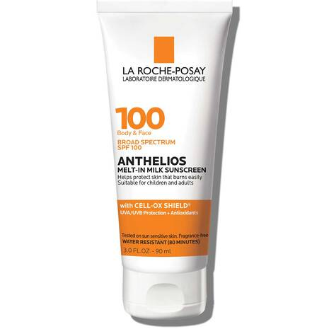 Anthelios Melt-In Milk Sunscreen for Face & Body SPF 100